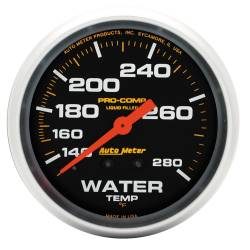 AutoMeter - AutoMeter Pro-Comp Liquid-Filled Mechanical Water Temperature Gauge 5431