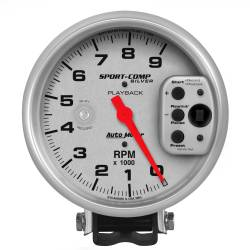 AutoMeter - AutoMeter Sport-Comp Silver Playback Tachometer 3964