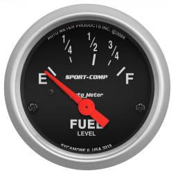 AutoMeter - AutoMeter Sport-Comp Electric Fuel Level Gauge 3315