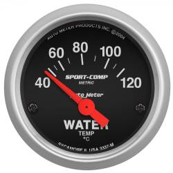 AutoMeter - AutoMeter Sport-Comp Electric Water Temperature Gauge 3337-M