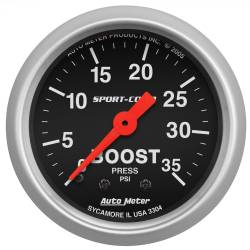 AutoMeter - AutoMeter Sport-Comp Mechanical Boost Gauge 3304