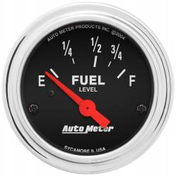 AutoMeter - AutoMeter Traditional Chrome Electric Fuel Level Gauge 2515