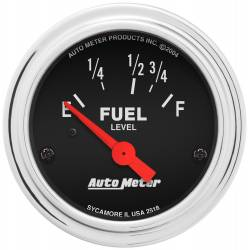 AutoMeter - AutoMeter Traditional Chrome Electric Fuel Level Gauge 2518
