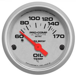 AutoMeter - AutoMeter Ultra-Lite Electric Oil Temperature Gauge 4348-M