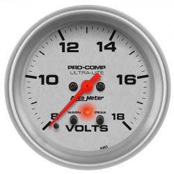 AutoMeter - AutoMeter Ultra-Lite Electric Voltmeter Gauge 4483