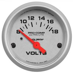 AutoMeter - AutoMeter Ultra-Lite Electric Voltmeter Gauge 4391