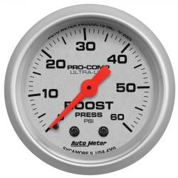 AutoMeter - AutoMeter Ultra-Lite Mechanical Boost Gauge 4305