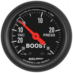 AutoMeter - AutoMeter Z-Series Mechanical Boost/Vacuum Gauge 2614