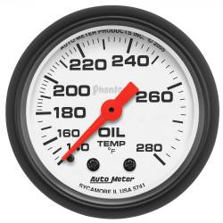 AutoMeter - AutoMeter Phantom Mechanical Oil Temperature Gauge 5741