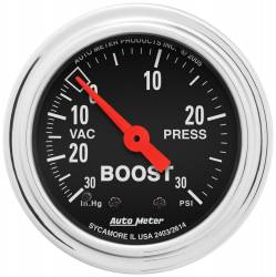 AutoMeter - AutoMeter Traditional Chrome Mechanical Boost/Vacuum Gauge 2403
