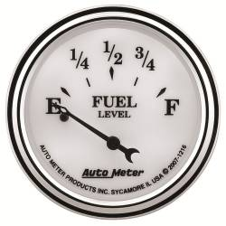 AutoMeter - AutoMeter Old Tyme White II Fuel Level Gauge 1216