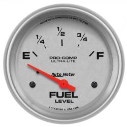 AutoMeter - AutoMeter Ultra-Lite Electric Fuel Level Gauge 4416