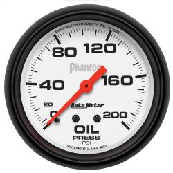 AutoMeter - AutoMeter Phantom Mechanical Oil Pressure Gauge 5822