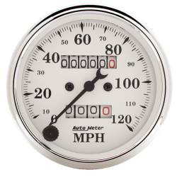 AutoMeter - AutoMeter Old Tyme White Mechanical Speedometer 1693