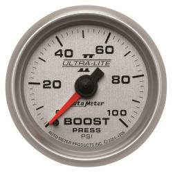 AutoMeter - AutoMeter Ultra-Lite II Mechanical Boost Gauge 4906