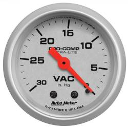 AutoMeter - AutoMeter Ultra-Lite Mechanical Vacuum Gauge 4384