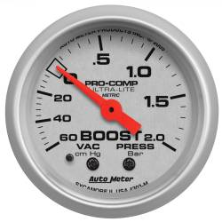 AutoMeter - AutoMeter Ultra-Lite Mechanical Boost/Vacuum Gauge 4303-M