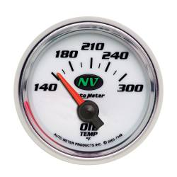 AutoMeter - AutoMeter NV Electric Oil Temperature Gauge 7348