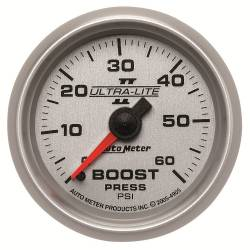 AutoMeter - AutoMeter Ultra-Lite II Mechanical Boost Gauge 4905