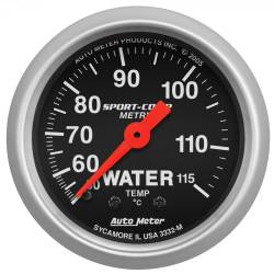 AutoMeter - AutoMeter Sport-Comp Mechanical Metric Water Temperature Gauge 3332-M