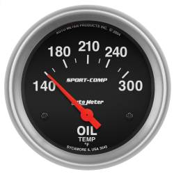 AutoMeter - AutoMeter Sport-Comp Electric Oil Temperature Gauge 3543