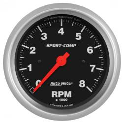 AutoMeter - AutoMeter Sport-Comp In-Dash Electric Tachometer 3991
