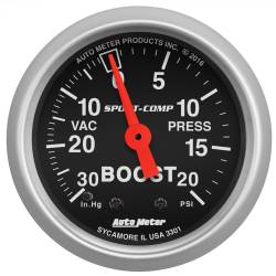 AutoMeter - AutoMeter Sport-Comp Mechanical Boost/Vacuum Gauge 3301