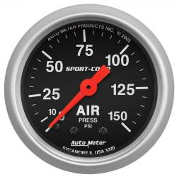 AutoMeter - AutoMeter Sport-Comp Mechanical Air Pressure Gauge 3320