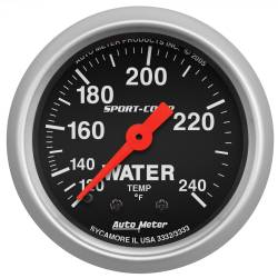 AutoMeter - AutoMeter Sport-Comp Mechanical Water Temperature Gauge 3332