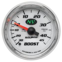 AutoMeter - AutoMeter NV Mechanical Boost/Vacuum Gauge 7308