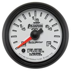 AutoMeter - AutoMeter Phantom II Electric Programmable Fuel Level Gauge 7510