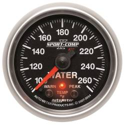 AutoMeter - AutoMeter Sport-Comp PC Water Temperature Gauge 3654