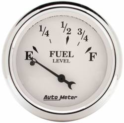 AutoMeter - AutoMeter Old Tyme White Fuel Level Gauge 1607