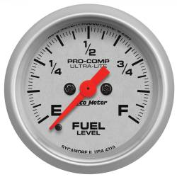 AutoMeter - AutoMeter Ultra-Lite Electric Programmable Fuel Level Gauge 4310