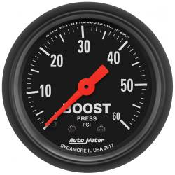AutoMeter - AutoMeter Z-Series Mechanical Boost Gauge 2617