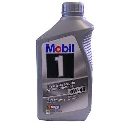 Mobil 1 - 88862479 - 0W40 Mobil 1 Synthetic Oil - 1 Quart