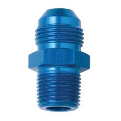 "Fragola - FRA481601 -  Fragola AN Male To Male NPT Adapter, Straight, Blue, 3AN To 1/16"" NPT"