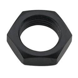 "Fragola - FRA492406-BL - Fragola Bulkhead Nut, Black, 6AN, 9/16""-18 Thread"