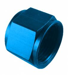 "Fragola - FRA492928 -  Fragola Flare Cap,Blue,8AN With 1/8"" NPT on End"