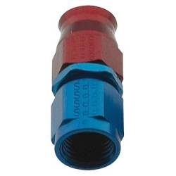 Fragola - FRA690103 -  Fragola Reusable Aluminum P.T.F.E. Hose End, -3AN, Straight, Red/Blue Anodized