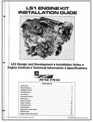 Chevrolet Performance Parts - 88959384 - LS1 Engine Kit Installation Guide Used With GM LS1 Kit # 25534322