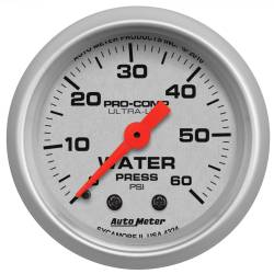 AutoMeter - AutoMeter Ultra-Lite Mechanical Water Pressure Gauge 4324