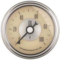 AutoMeter - AutoMeter Prestige Series Antique Ivory Oil Pressure Gauge 2021