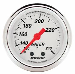 AutoMeter - AutoMeter Arctic White Mechanical Water Temperature Gauge 1332