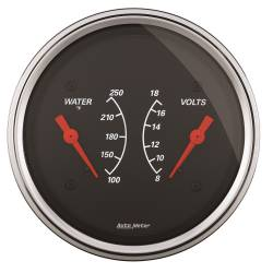 AutoMeter - AutoMeter Designer Black Water Temperature Gauge 1430