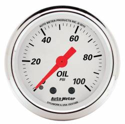AutoMeter - AutoMeter Arctic White Mechanical Oil Pressure Gauge 1321