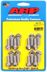 "ARP - ARP4001105 -ARP Header Bolt Kit- Universal Application - 3/8""X 1.000""- Stainless Steel- 6 Point Nuts-Qty.-16- Drilled For Safety Wire"