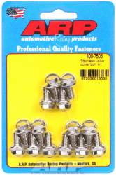 "ARP - ARP4007506 - ARP Valve Cover Bolt Kit - For Stamped Steel Covers- 1/4""-20 X .515"" - Stainless Steel - 6 Point Head-Qty.-14"