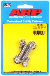 ARP - ARP4301601 - ARP Fuel Pump Bolt Kit- Chevy- Stainless Steel- 12 Point Head