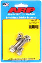 ARP - ARP4301602 - ARP Fuel Pump Bolt Kit- Chevy- Stainless Steel- 6 Point Head